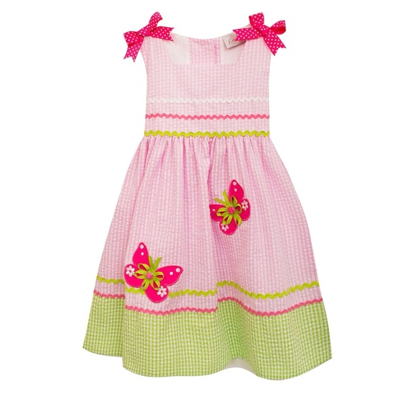 fc71078fa9 NWT Pink Green Gingham Butterfly Dress Size 3T. NWT. Rare Editions
